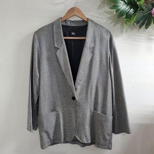 Tofy 80's Vintage Houndstooth Blazer jacket large
